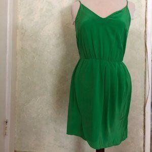 Amanda Uprichard Green Madison silk dress Revolve